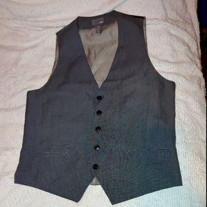 H&M men's gray six button vest 42